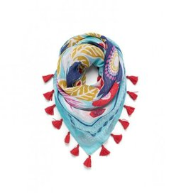 SPARTINA Square Scarf Floral Medley blue dot