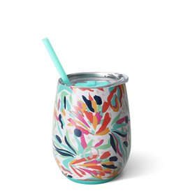 OCCASIONALLY MADE SWIG 14 OZ STEMLESS WINE CUP WILD FLOWER