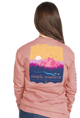SIMPLY SOUTHERN TEES ADVENTURE ROSE LONG SLEEVE TEE SHIRT