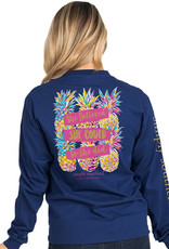 SIMPLY SOUTHERN TEES SHE COULD MIDNIGHT BLUE LONG SLEEVE TEE SHIRT