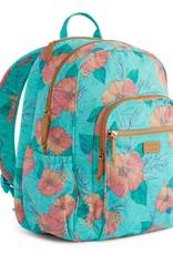 VERA BRADLEY Iconic Campus Backpack Citrus Hibiscus (Pura Vida)