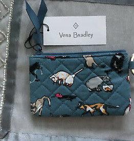 VERA BRADLEY 22635 Iconic Zip ID Case Cat's Meow
