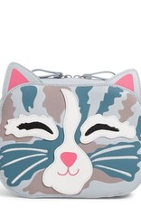 VERA BRADLEY Iconic Cat Cosmetic Cat's Meow- Faux Leather