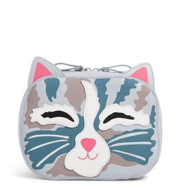 VERA BRADLEY 26026 Iconic Cat Cosmetic Cat's Meow- Faux Leather