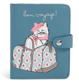 VERA BRADLEY Iconic RFID Passport Wallet Cat's Meow