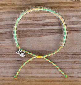 4OCEAN Beaded Bracelet SEA STAR-Green/Yellow/Coral