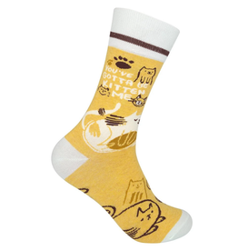 FUNATIC Crew Socks-You've Gotta Be Kitten Me