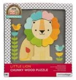 PUZZLE LION CHUNKY WOODEN TRAY