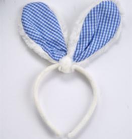 MUDPIE Blue Gingham Bunny Ears Headband- MUDPIE