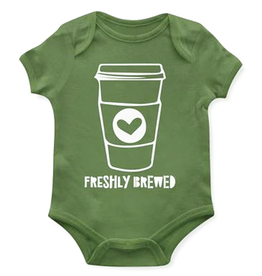 EMERSON AND FRIENDS Onesie 0-3M Freshly Brewed Baby