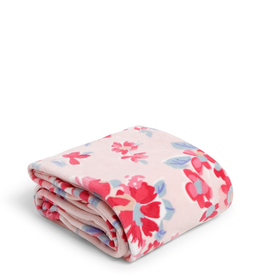 VERA BRADLEY Plush Throw Blanket Pretty Posies Pink