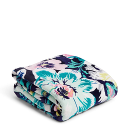 VERA BRADLEY Plush Throw Blanket Garden Grove