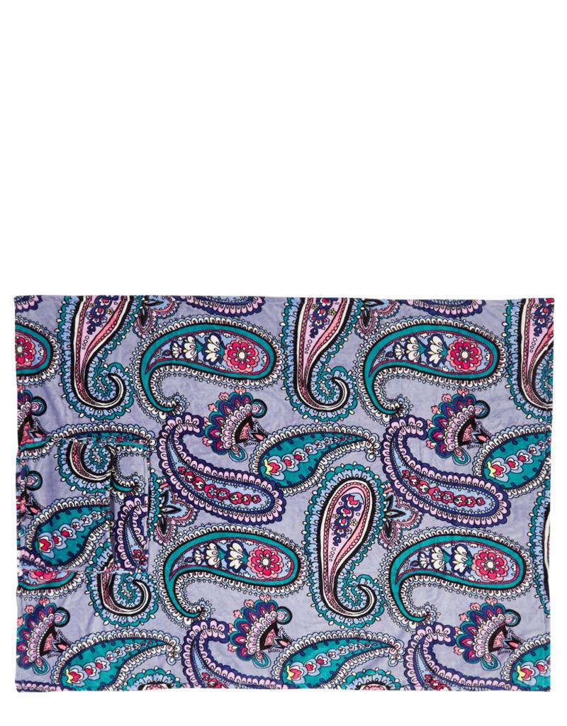 24786 Plush Fleece Travel Blanket Kona Paisley