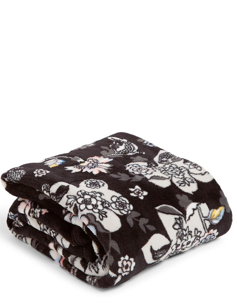 VERA BRADLEY Plush Throw Blanket Holland Garden