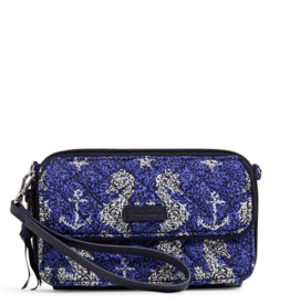 VERA BRADLEY Iconic RFID All in One Crossbody Seahorse of Course