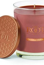 ROOT CANDLES 10.5oz  Chocolate Chiffon Large Honeycomb Veriglass