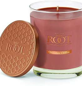ROOT CANDLES CHOCOLATE CHIFFON LARGE HONEYCOMB VERIGLASS 10.5 oz.