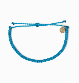 PURA VIDA Mini Braided Solid Bracelet Neon Blue