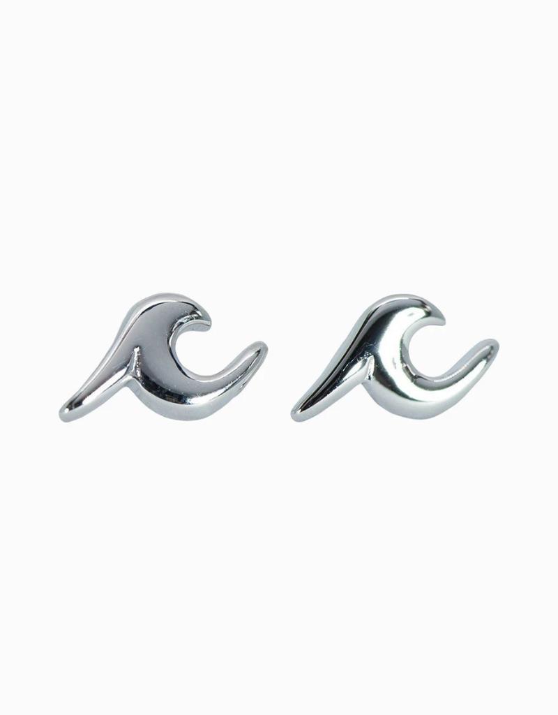 PURA VIDA Silver Wave Stud Earring