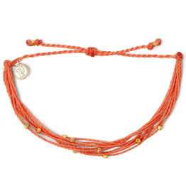 PURA VIDA Gold Malibu Bracelet Coral