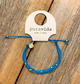 PURA VIDA Gold Malibu Bracelet Neon Blue