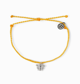 PURA VIDA Silver Bee Bracelet Dark Yellow