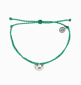 PURA VIDA Silver Sloth Bracelet Dark Green