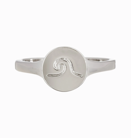 PURA VIDA WAVE COIN RING SILVER Size 8