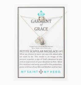 MY SAINT MY HERO Garment of Grace Petite Scapular Necklace