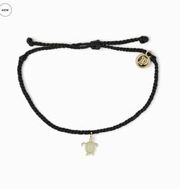 PURA VIDA Gold Sea Turtle Bracelet Black