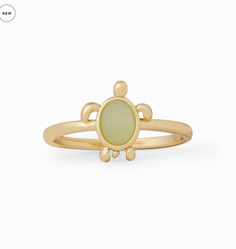 PURA VIDA GOLD SEA TURTLE RING SIZE 8