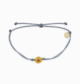 PURA VIDA Gold Enamel Sunflower Blue Steel