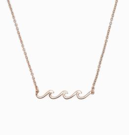 PURA VIDA Delicate Wave Necklace Rose Gold
