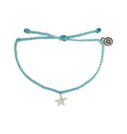 PURA VIDA Enamel Starfish SL/WH Bracelet Crystal Blue