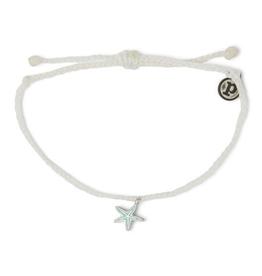 PURA VIDA Enamel Starfish Silver/Blue Bracelet White