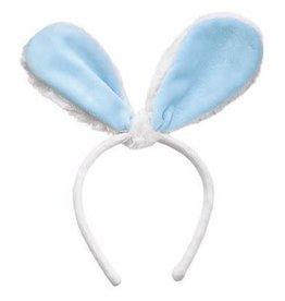 MUDPIE Headband Blue Velour Bunny Ears