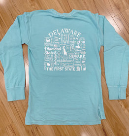 WHERE LIFE TAKES YOU LLC CHALKY MINT TERRY SWEATSHIRT DELAWARE