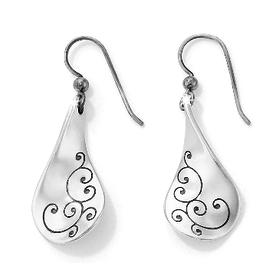 BRIGHTON J17470 Silver Twirl French Wire Earrings