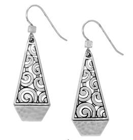 BRIGHTON JA2990 DECO FACETED FRENCH WIRE EARRINGS