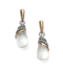 BRIGHTON JA497B Neptune's Rings Crystal Teardrop Earrings