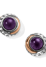 BRIGHTON Neptune's Rings Amethyst Button Earrings