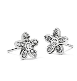 BRIGHTON J22271 Baroness Fiori Mini Post Earrings Silver