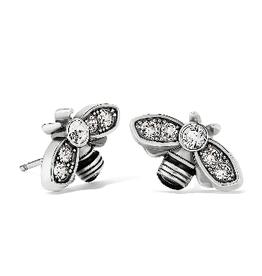 BRIGHTON J22281 Bee Beautiful Mini Post Earrings Silver