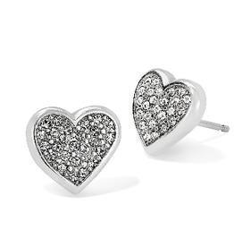 BRIGHTON J22321 Eden Hearts Mini Post Earrings Silver