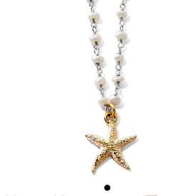 BRIGHTON JM2583 Sea Shore Petite Starfish Necklace Silver OS