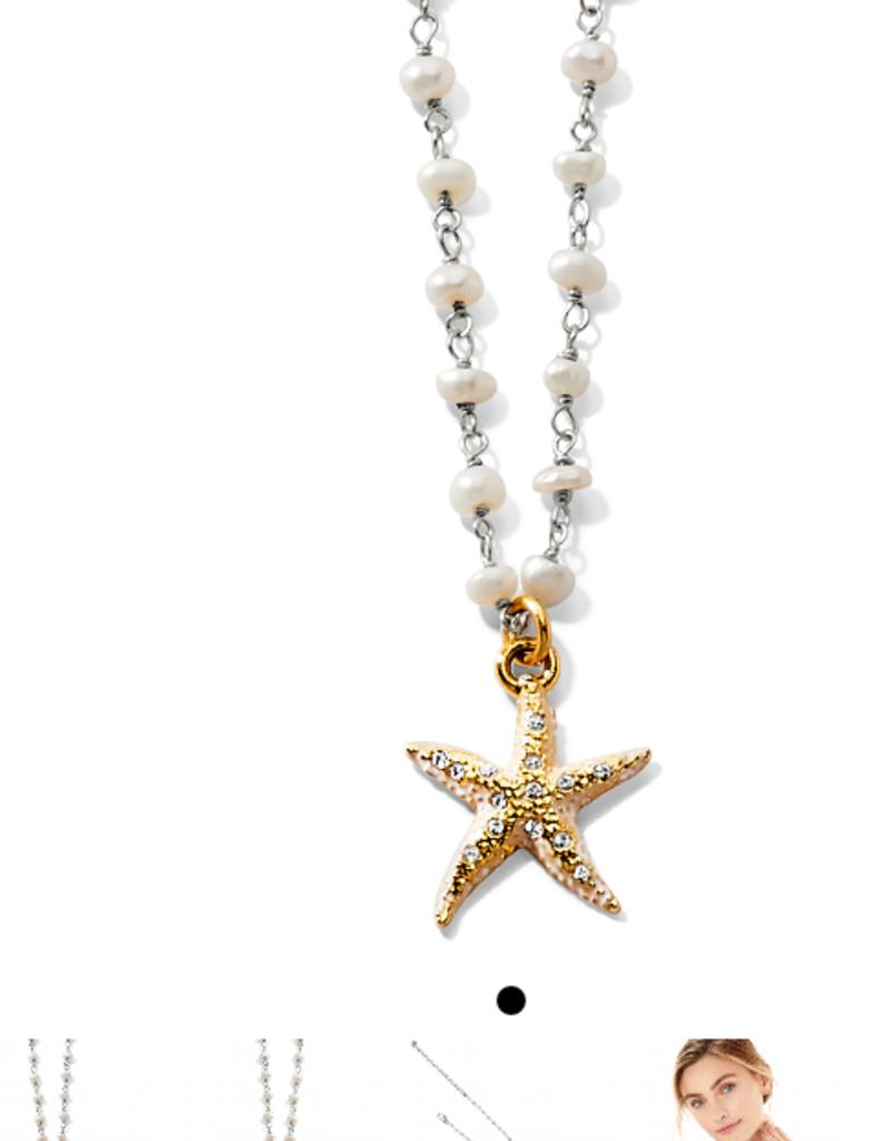 BRIGHTON Sea Shore Petite Starfish Necklace Silver OS