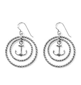 BRIGHTON JA3511 BLUE WATER FLOATING ANCHOR FRENCH WIRE EARRINGS