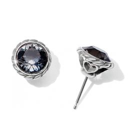 BRIGHTON JA173D BLACK DIAMOND IRIS STUD EARRINGS