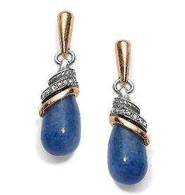 BRIGHTON JA497A Neptune's Rings Brazil Blue Quartz Teardrop Earrings; Size : Blue