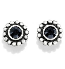 BRIGHTON J20493 TWINKLE BLACK MINI POST EARRINGS